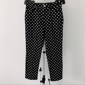NWOT Ralph Lauren polka dot black/white pants